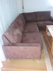 Dunkelbraune Couch