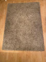 Langhaar-Teppich beige