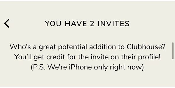 Clubhouse Einladung Invite