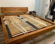 Balkenbett echt Holz