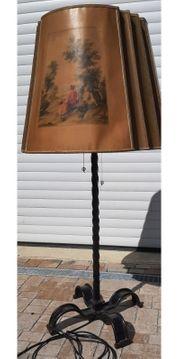 Stehlampe Lampe Schmiedeeisen Antik