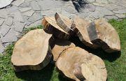 Holzscheiben Räder 120cm