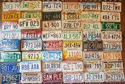 CALIFORNIA Autokennzeichen und meist alle