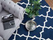 Teppich blau 160 x 230