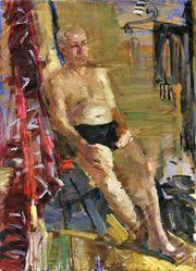 Russische Malerei Öl auf Leinwand