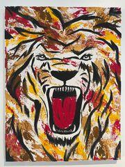 Gemälde Acrylbild Löwe Abstrakt Keilrahmen