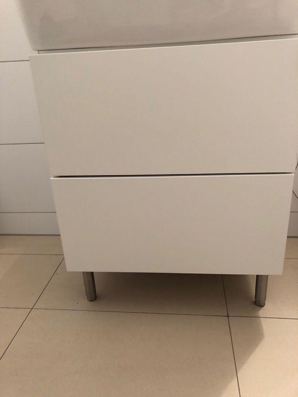 Waschtisch Unterschrank IKEA Gogdmorgon weiß