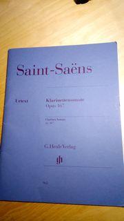 Camille saint-saens Klarinettensonate Opus 167