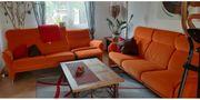 2 x 3er Couch orange