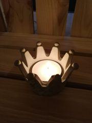 DIY Krone Teelichthalter Teelichtständer König