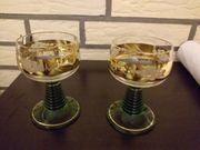 Zwei Römergläser Gold mit ein