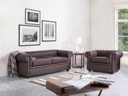 Sofa Set Leder braun 4-Sitzer