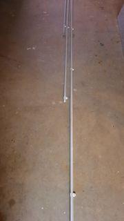Vorhangschienen - weiß - 3 Stck