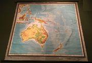 Wandkarte alte Schulwandkarte 1950 AUSTRALIEN