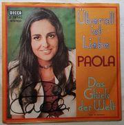PAOLA-Schallplatte mit echtem Autogramm
