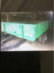 1-Achs Dreiseitenkipper Traktor Auflaufbremse Stahlboden