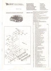 VOTEX Radträger - 3fach - VW Sharan