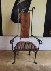 Metall Sessel Thron Handarbeit Unikat