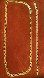 Goldkette und Armband 585