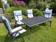 Gartenmöbel Großer Tisch und 4