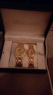 Geneves Uhren Partnerset 18 kt