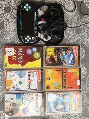 PSP Handspielkonsole mit 6 Spielen
