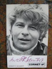 Autogrammkarte - Herbert F Schubert