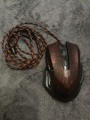 Gaming Maus schwarz rot USB