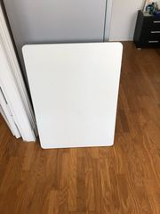 Küchentisch weiß 90x76 Gestell verchromt