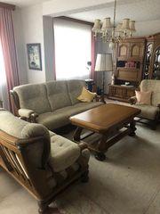 Couch Eiche 3 Sitzer Sessel
