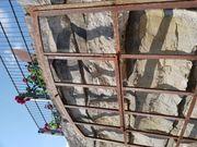 Großes Antik Rundbogenenster Loft Raumteiler