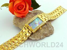 SWISS MADE Damen Armbanduhr vergoldet Neu