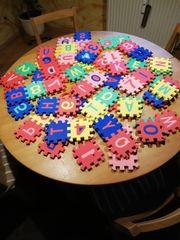 Puzzlematte Zahlen - und Buchstabenpuzzle