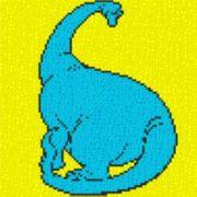 Vorlage für Ministeck Dino1 40x40cm