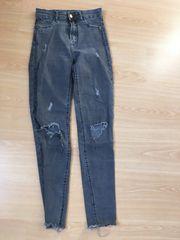 bershka jeans grau