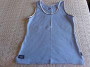 Trägerhemd Sporttop Top hellblau dunkelblau