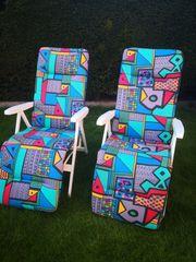 Liegestühle 2 Stück mit Polster