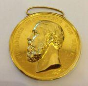 ECHT GOLD Medaille Friedrich Grosherzog