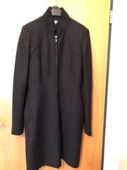 Wollmantel elegant schwarz um 30