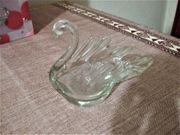Schwan Schale aus Glas in