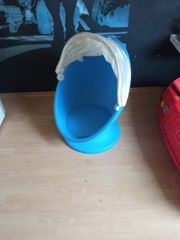 IKEA Lömsk blauer Kinder-Dreh-Sessel Ei-Stuhl
