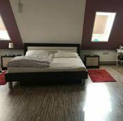 Komplettset Bett inkl Einlegeplatte Matratze