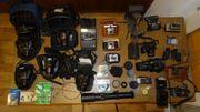 Foto-Kamera-Retro-Sammlung mit Zubehör aus fast 100