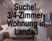 Suche 3 4-Zimmer-Wohnung in Landau