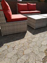 Gartenmöbel Polyrattan Lounge Bestelltisch 16