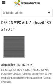 Trennwände Garten WPC Aluminium