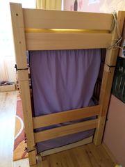 Hochbett für Kinder aus Kiefernholz -