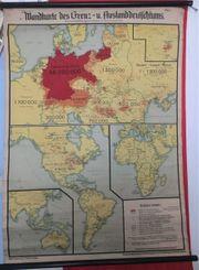 Wandkarte des Grenz- u Auslandsdeutschtums