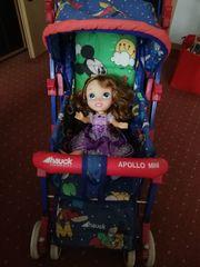 Puppenwagen mit Puppe