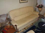 Ledergarnitur 1 Sofa 2 Sessel